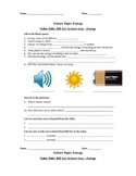Bill Nye Science Guy Movie - Energy. Video Worksheet & Key
