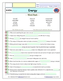 Bill Nye - Energy – iPad Interactive Worksheet, Answer Sheet, and Two Quizzes.