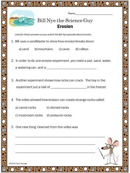 Erosion Video Response Form - Bill Nye the Science Guy