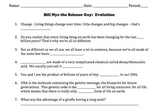 Bill Nye Evolution Video Worksheet