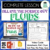 Bill Nye FLUIDS Video Guide, Quiz, Sub Plan, Worksheets, No Prep Lesson