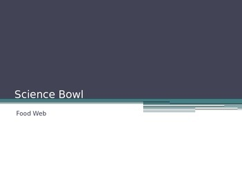 "Bill Nye Food Web ""Science Bowl"" game"