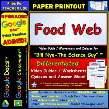 All About Me Worksheet Preschool Differentiated Video Worksheet Quiz  Ans For Bill Nye  Food Web  Math Worksheet 5th Grade with Grade 2 Division Worksheets  Spelling Rules Worksheets Word