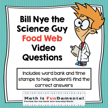 {FREEBIE} Bill Nye Food Web video questions