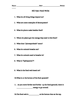 worksheet. Bill Nye Food Web Worksheet. Grass Fedjp Worksheet ...
