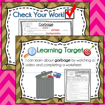 Bill Nye GARBAGE Video Guide, Quiz, Sub Plan, Worksheets, No Prep Lesson