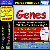 Differentiated Video Worksheet, Quiz & Ans. for Bill Nye - Genes *