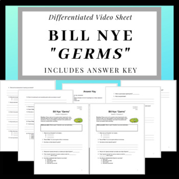 Bill Nye Germs Video Worksheet