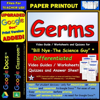Germs Worksheet - Delibertad