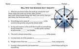 Bill Nye Gravity Video Worksheet