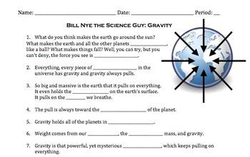 Bill nye gravity worksheet answers