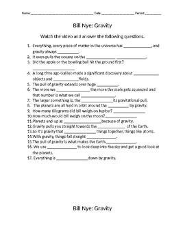 Bill Nye: Gravity with key