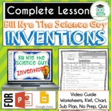 Bill Nye INVENTIONS Video Guide, Quiz, Sub Plan, Worksheet