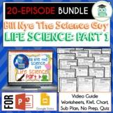 Bill Nye LIFE SCIENCE Part 1 BUNDLE, Video Guides, Sub Pla