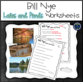 Bill Nye Lakes and Ponds Worksheets