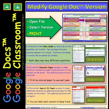 Differentiated Video Worksh... by Star Materials | Teachers Pay ...