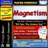 Differentiated Video Worksheet, Quiz & Ans. for Bill Nye - Magnetism *