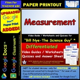Differentiated Video Worksheet, Quiz & Ans. for Bill Nye - Measurement *