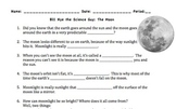 Bill Nye Moon Video Worksheet