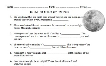bill nye the science guy moon worksheet bill best free printable worksheets. Black Bedroom Furniture Sets. Home Design Ideas