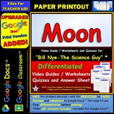 Video Guide, Quiz for Bill Nye – Moon * PRINTING Google Doc™/pdf