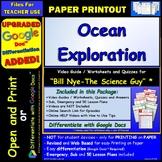 Video Guide, Quiz for Bill Nye – Ocean Exploration * PRINTING Google Doc™/pdf