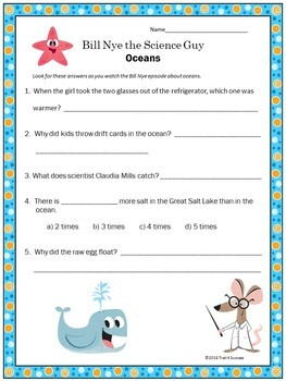 Oceans Video Response Form - Bill Nye the Science Guy