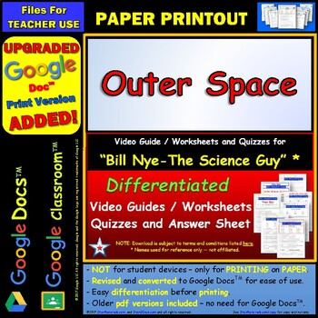 differentiated video worksheet quiz ans for bill nye outer space. Black Bedroom Furniture Sets. Home Design Ideas