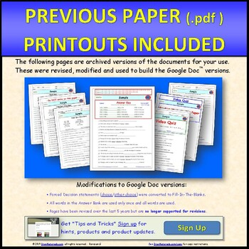 Differentiated Video Worksheet, Quiz & Ans. for Bill Nye - Patterns *