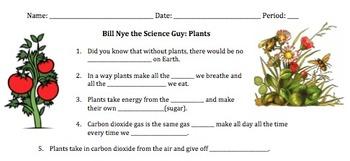 Video Worksheet, Quiz & Ans. for Bill Nye - Plants *