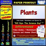 Video Guide, Quiz for Bill Nye – Plants * PRINTING Google Doc™/pdf