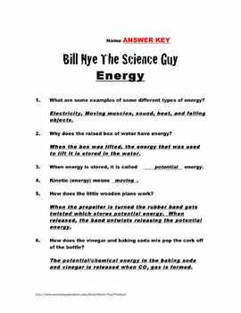 Bill Nye Questions Energy 15 Questions Key Science Karaoke By