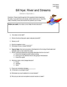 Bill Nye: River and Streams Video Sheet