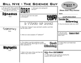 Bill Nye - Rocks & Soil - Ultimate Watch-Along Worksheet