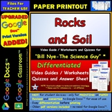 Video Guide, Quiz for Bill Nye – Rocks and Soil * PRINTING