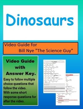 Bill Nye: S1E3 Dinosaurs video follow along sheet