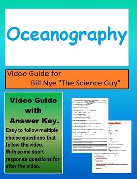 Bill Nye: S2E9 Oceanography (the oceans) video follow along sheet