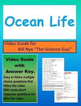 Bill Nye: S3E12 Ocean Life video follow along                  (with answer key)