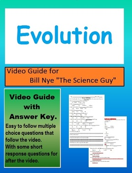 Bill Nye: S3E6 Evolution video follow along   (with answer key)