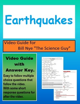 Bill Nye: S4E4 Earthquakes video follow along                 (with answer key)