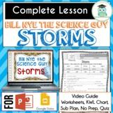 Bill Nye STORMS Video Guide, Quiz, Sub Plan, Worksheets, N
