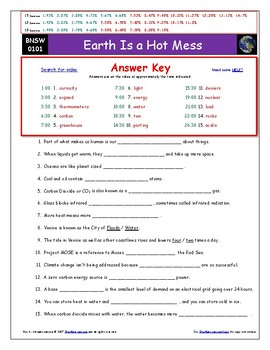 """Earth is a Hot Mess – iPad Guide, Ans. and Quiz for """"Bill Nye Saves World""""*"""