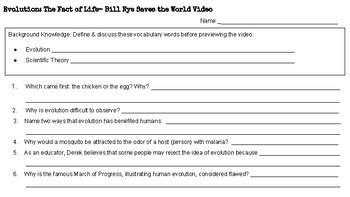 Bill Nye Saves the World: Evolution The Fact of Life