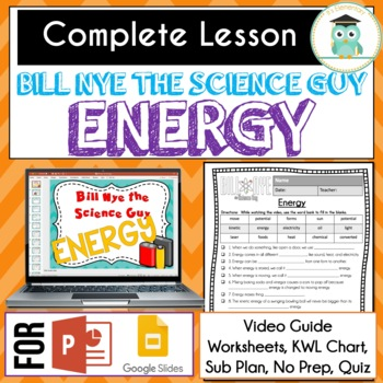 Bill Nye Science - Energy Video Guide Worksheets