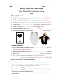 Bill Nye Science Guy Movie: Sound. Video Worksheet. Fun +