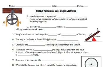 Bill Nye Simple Machines Video Worksheet