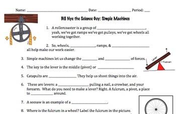 Bill Nye Simple Machines Video Worksheet