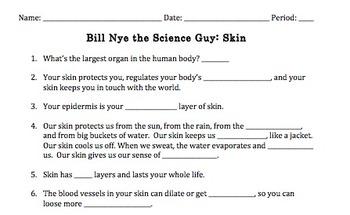 Bill Nye Skin Video Worksheet