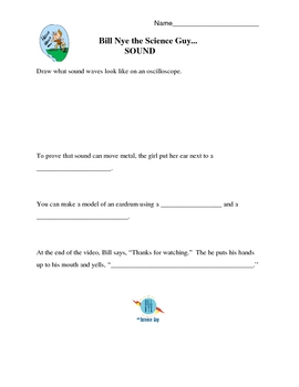 Sound Video Response Form - Bill Nye the Science Guy