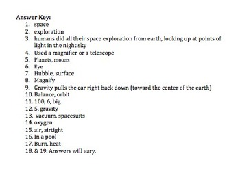 Bill Nye Space Exploration Video Worksheet